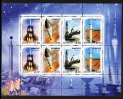 Russia 2004,Miniature Sheet Space Baikonur Cosmodrome,Scott # 6874a,XF MNH** - Russia & USSR