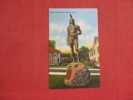 Statue Of Massaseit Plymouth  Massachusetts >   3085 - Native Americans