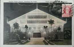 O) 1917 CIRCA-CUBA-CARIBBEAN, SPANISH ANTILLES, MAXIMO GOMEZ 2c, VISTA HERMOSA THEATER -ARCHITECTURE, POSTAL CARD XF - Postcards