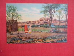 Typical Indian Pueblo  Taos- New Mexico    3086 - Native Americans