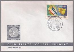 Uruguay - 1991 -  FDC - Carnaval - Uruguay