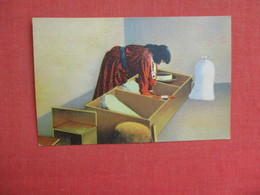 Pueblo Indian Woman Grinding Grain   >  3086 - Native Americans