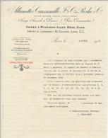 """FRANCE - En-tête De Lettre """"Allumettes Caussemille Et Roche Cie"""" Paris 7 Rue Caumartin - 1903 - 1900 – 1949"""
