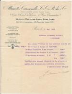 """FRANCE - En-tête De Lettre """"Allumettes Caussemille Et Roche Cie"""" Paris 7 Rue Caumartin - 1905 - 1900 – 1949"""