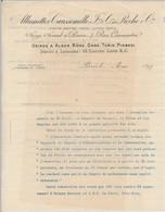 """FRANCE - En-tête De Lettre """"Allumettes Caussemille Et Roche Cie"""" Paris 7 Rue Caumartin - 1897 - Texte Polycopié - 1900 – 1949"""