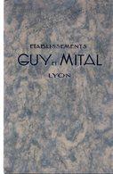 69 Lyon Etablissements Guy MITAL Materiel Vinicole Moto Pompe - Publicités