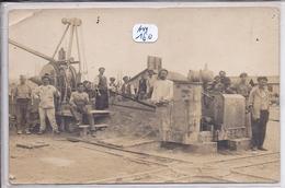 CARTE-PHOTO- MACONS AU TRAVAIL - A Identifier