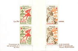 FRANCE PAIREt Croix Rouge N° 1860/1861 Année 1975 - Carnets