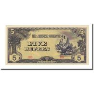 Billet, Birmanie, 5 Rupees, Undated (1942-44), KM:15b, NEUF - Myanmar