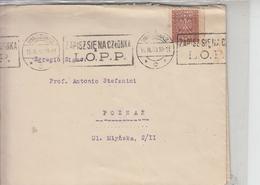 "POLONIA  1930 - Annullo Meccanico ""DIFESA AEREA CHIMICA ANTITEDESCA"" - Storia"