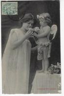 Nymphe Et Amour - 1906 (K72) - Anges