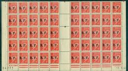 FRANCE LIBERATION  LYON N° 9 Pétain 1 Fr Rouge Nxx Bloc De 50 Ex Daté 7.4.44 C:90 € (mayer) - Libération