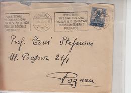 """POLONIA  1929 - Annullo Meccanico  """" EXPO"""" - Esposizioni Universali"""