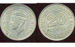 MALAYSIA MALAISIE 20 Cents 1948 - Malaysie