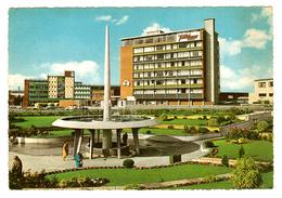 Australia, TAS, Hobart, Railway Roundabout, Travelodge Hotel, 'UFO' Fountain, Googie Architecture, Public Park, Postcard - Hobart