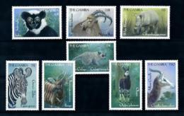 Gambia 2000 Wild Life Animals Fauna Okapi Zebra Rhino SCOTT No.2184-2191 I201807 - Gambia (1965-...)