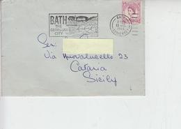 """GRAN BRETAGNA 1966 - Annullo Meccanici """"BATH THE GEORGIAN CITY"""" - Ponti"""