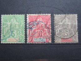 VEND BEAUX TIMBRES DE MADAGASCAR N° 42A - 44 !!! - Used Stamps