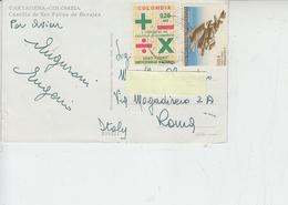 COLOMBIA  1968 -  Yvert  435-491 Su Cartolina Da Cartagena - Colombia