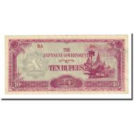 Billet, Birmanie, 10 Rupees, Undated (1942-44), KM:16b, SUP - Myanmar
