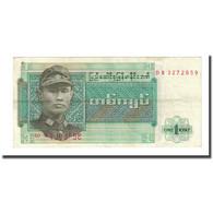 Billet, Birmanie, 1 Kyat, Undated (1972), KM:56, TB - Myanmar