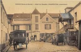 77 . N° 51787 . Nangis . Hotel Du Dauphin . Charpentier . Carte Toilé - Nangis