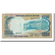 Billet, South Viet Nam, 1000 D<ox>ng, Undated (1972), KM:34a, TB - Viêt-Nam