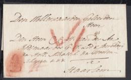 """Pays-Bas 1792 - Précurseur """" Zutphen """"vers Haarlem -Marque A La Craie (6G24546) DC0884 - ...-1852 Préphilatélie"""