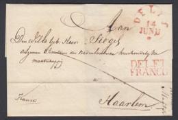 "Pays-Bas 1830 - Précurseur ""DELFT FRANCO "" Vers Haarlem (6G24546) DC0895 - Pays-Bas"
