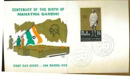 MALTA - MAHATMA GANDHY- Y 1969 FDC - Malta