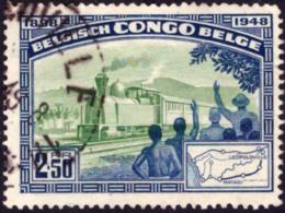 Congo 0296 (o)  Chemin De Fer - Congo Belge