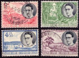 Congo 0333/36 (o)  Baudouin - Congo Belge