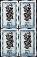 Congo 0289 ** Masque Bloc De 4 MNH - Congo Belge
