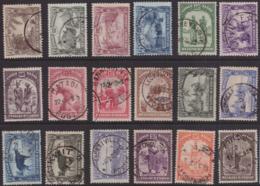 Congo 0168/83(o) Scènes Indigènes - 1923-44: Oblitérés