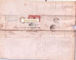Marques Postales Zabern Im Elsass Limoux 11 - Le 06/03/1872 KUHN YAUCONSANT Ste-Barbe Saverne 67 - Allemagne
