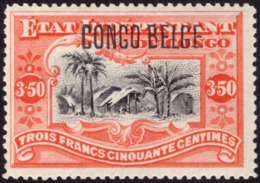 Congo 0047* 3.50 Vermillon H - Congo Belge