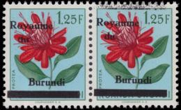 Burundi 0003A-v** Fleur 1.25F En Paire MNH - Burundi