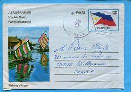 PHILIPINES-Aérogramme P2.15+065 Cadmanillaja 1985 Pour Françe - Philippines