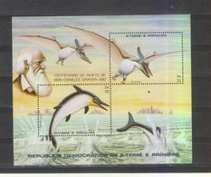 SAO TOME  PRINCIPE 1982   DARWIN DINOSAURS S / S MNH (001) - Preistorici