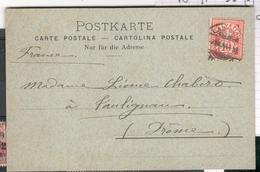 10391 - CP Peinte  à La Main - 1882-1906 Armarios, Helvetia De Pie & UPU