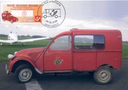 BELGIQUE BELGIUM (2009) - Carte Maximum Card - ATM Amiel - Vehicules Postaux Gent - Citroën 2CV AZU-L (1959) Poste Belge - 2001-2010