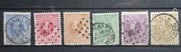 NEDERLAND  1867-88     Nr. 7 - 12    Gestempeld    CW  400,00 - 1852-1890 (Wilhelm III.)