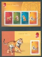 HONG KONG -  MNH/**- 2010 - YEAR OF THE TIGER - Yv BLOC 190-191 -  Lot 18308 - 1997-... Région Administrative Chinoise