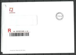 ESTLAND Estonia 2018 Official Registered Cover Of Estonian Postal Service - Estonie