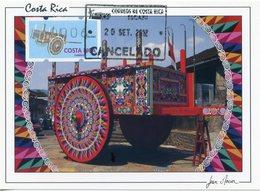 COSTA RICA - Carte Maximum Card - ATM Klüssendorf - Sarchi Ox-cart, Oxcart, Carreta, Charrette - Escazú - Costa Rica