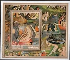 "Manama 1971 Bf. 155 ""Giardino Delle Delizie"" Trittico Quadro Dipinto H. Bosch Sheet Perf. Paintings - Manama"