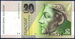 SLOVAKIA SLOWAKEI SLOVAQUIE SLOVACCHIA ESLOVAQUIA 20 KORUN P-20e Prince Pribina Castle Nitra - Neutra 2001 UNC - Slovaquie