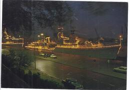 42391 - Rotterdam - Feesteikl Verlichte Marine Schepen Afgermeerd Aan De Parkade - Rotterdam