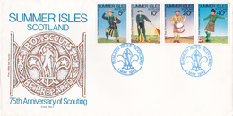 Summer Isles Scotland  - FDC - 1982 75TH ANNIVERSARY OF SCOUTING - Emissions Locales