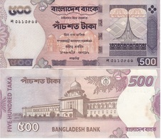 Bangladesh - 500 Taka 2002 W/holes AUNC- Ukr-OP - Bangladesh